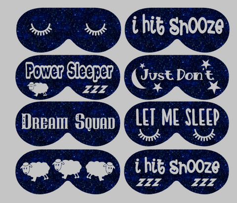 No Sew Leatherette Sleep Mask Design Only