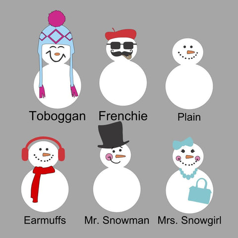 Acrylic Snow Snowman Family - CraftChameleon  - 1