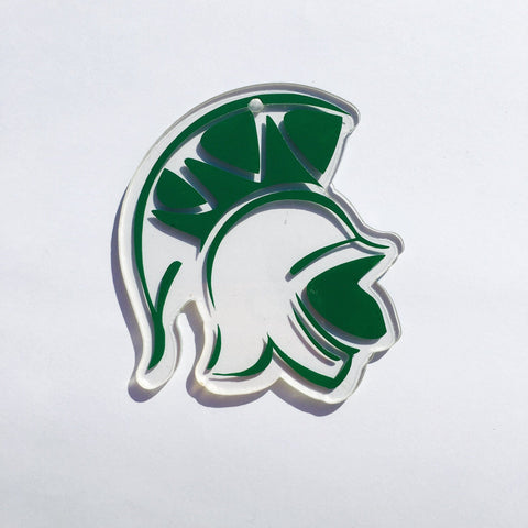 Spartan Trojan Head Shaped Acrylic - CraftChameleon  - 1
