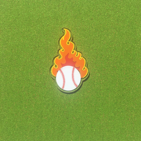 Sports Flame Baseball Softball Tennis Soccer Basketball Shaped Acrylic - CraftChameleon  - 1