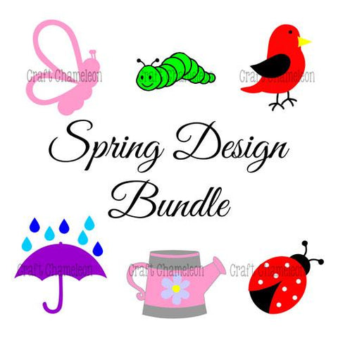 Spring Digital Design Bundle ~ 6 Designs - CraftChameleon