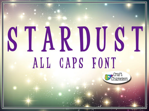 Stardust an All Caps Font