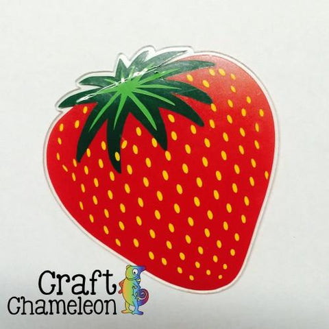 Strawberry Shape Acrylic - CraftChameleon  - 1