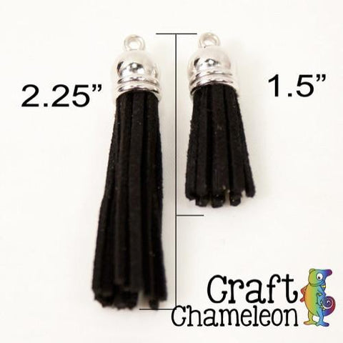 "Set of 5 ~ 2.25"" Tassels - CraftChameleon  - 1"