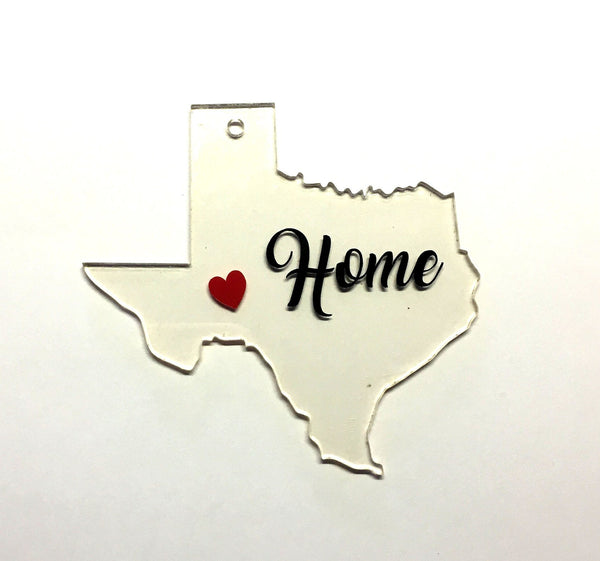 Texas Acrylic State Shape ~ Multiple Sizes - CraftChameleon