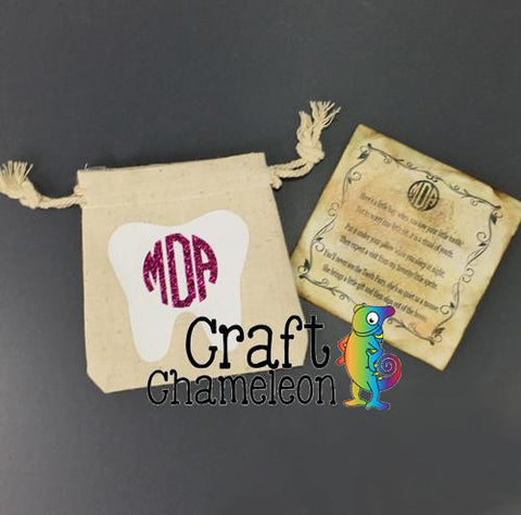 Natural Canvas Tooth Fairy Bags - CraftChameleon  - 1