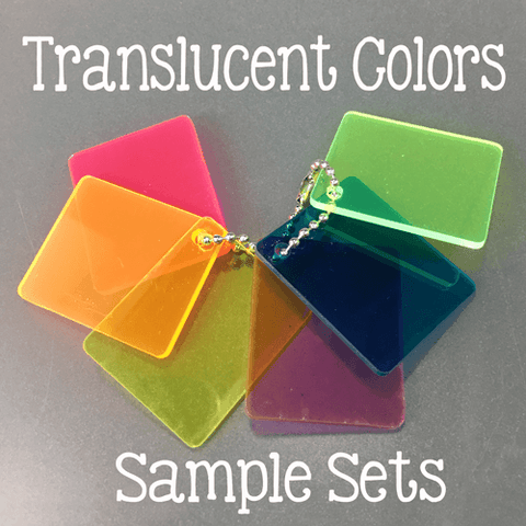 Translucent Color Acrylic Sample Sets - CraftChameleon