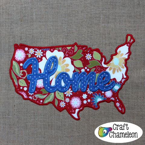 In the Hoop Embroidery USA Wordart Design Only