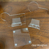 Acrylic Blank Desk Sets - includes phone holder, card holder and coaster