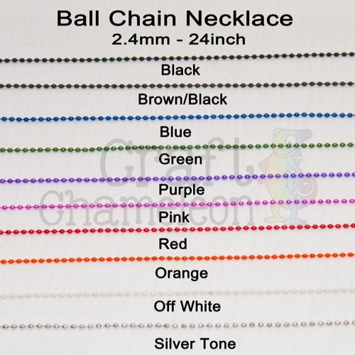 "Set of 25 ~ 24"" Ball Chain Necklace - CraftChameleon"
