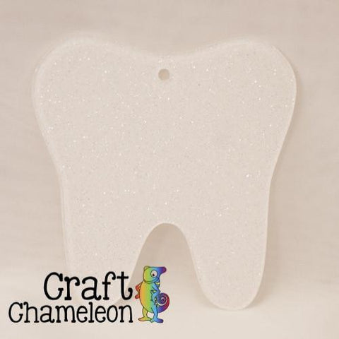 Set of 10 ~ Tooth Acrylic Charm Shape for Bracelet Necklace Earrings - CraftChameleon  - 1