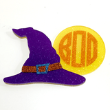 Witch Hat and Moon Acrylic Shape - CraftChameleon