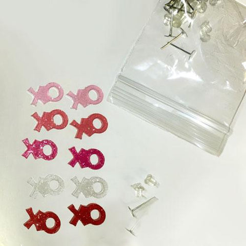 X and O DIY Acrylic Blank Earrings