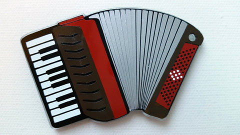 Accordion Acrylic Blank Shape