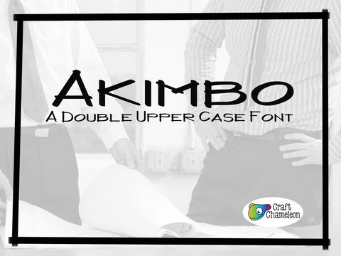 Akimbo Font ~ An Double Upper Case Font