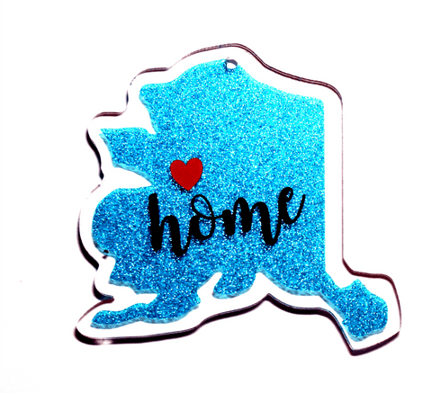 Alaska Acrylic State Shape ~ Multiple Sizes - CraftChameleon