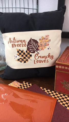 Autumn Breeze Crunchy Leaves Digital Design