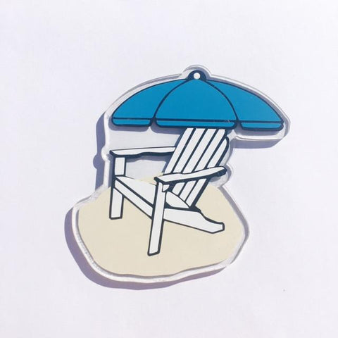 Beach Chair Aderodack Chair Acrylic Shape - CraftChameleon  - 1