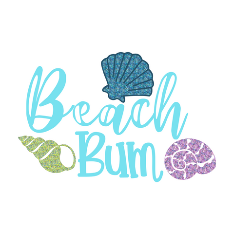 Beach Bum Wordart Design Only