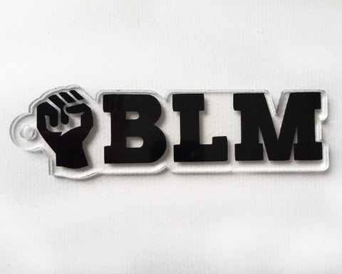 BLM Word Art Shaped Acrylic