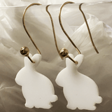 Bunny (side view) Acrylic Earrings ~ mulitple sizes bracelet necklace earrings - CraftChameleon