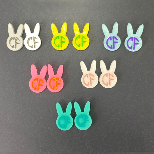 Bunny Head DIY Acrylic Earrings - CraftChameleon
