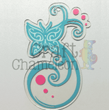 Swirly Butterfly Acrylic Shape - CraftChameleon  - 1