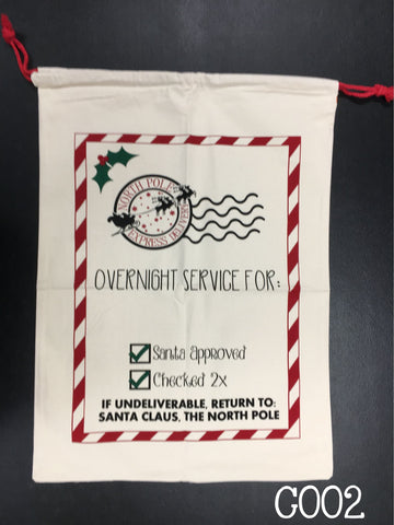 Santa Sacks - Christmas Bags - Ready for you monogram or personalize
