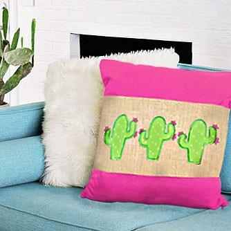 Flowering Cactus Trio Embroidery Applique Design Only