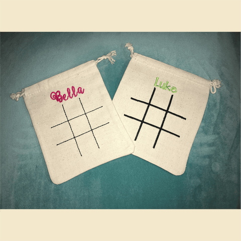 Tic Tac Toe Board Embroidery Design Only