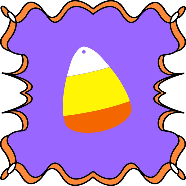 Candy Corn Shaped Acrylic - CraftChameleon  - 1