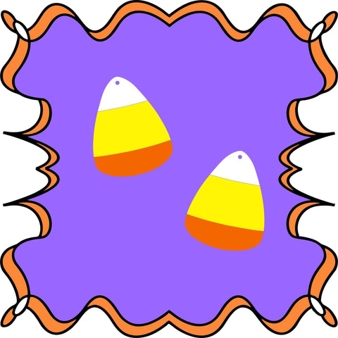 Candy Corn DIY Acrylic Earrings - CraftChameleon  - 1