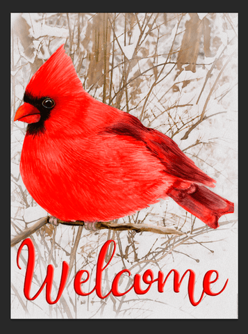 Winter Cardinal Sublimation Digital Design