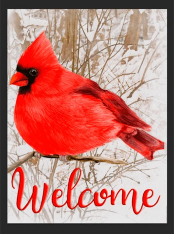 Cardinal Welcome Garden Flag Sized Sublimation Transfers