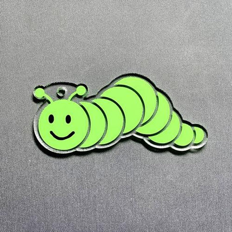 Caterpillar Acrylic Blank Shape
