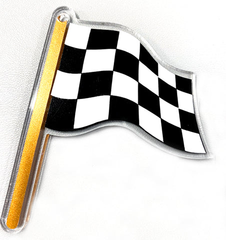 Checkered Flag Acrylic Blank Shape