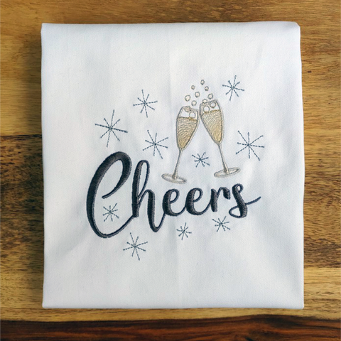 Cheers Wordart Embroidery Design Only