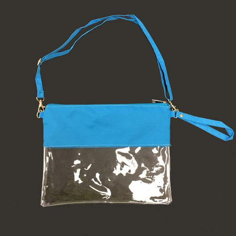 Wristlet Stadium Concert Blank Bag with Zipper, Shoulder or Wrist Strap