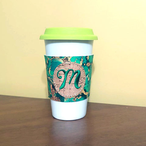 In the Hoop Coffee Cozy  Embroidery Design Only