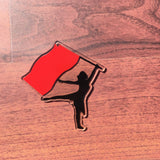 Color Guard Silhouette Acrylic Shape - CraftChameleon  - 1