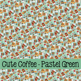 Cute Coffee ~ Leon's Pattern ~ Vinyl, Leatherette, HTV, Acrylic, Sublimation