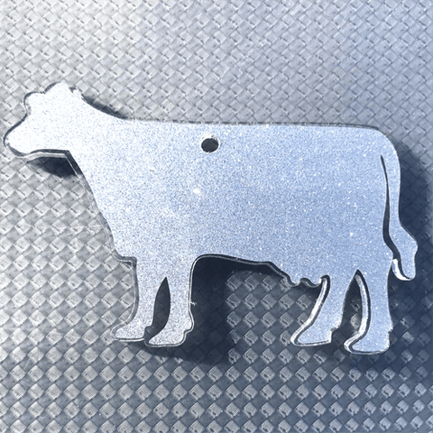 Dairy Cow Shaped Acrylic ~ Multiple Sizes - CraftChameleon
