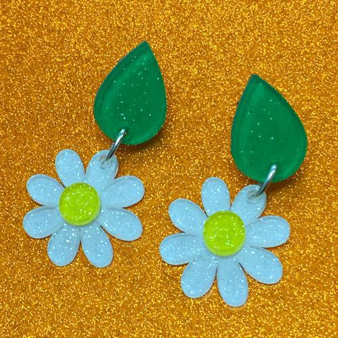 DIY Daisy Flower Shape Post or Dangle Earrings ~ Set of 10 - CraftChameleon