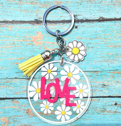 Daisy Key Chain Design Only - CraftChameleon