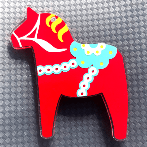 Dala Horse Shaped Acrylic - CraftChameleon