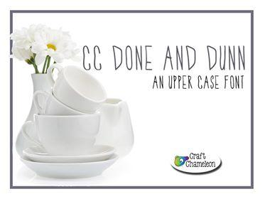 Done and Dunn Font ~ An Upper Case Font - CraftChameleon