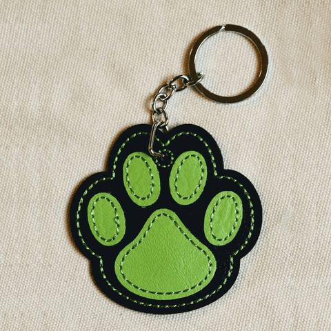"In The Hoop Embroidery Faux Leather 3"" Paw Print Design Only"