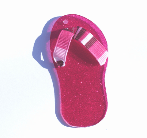 Single Flip Flop Acrylic Shape - CraftChameleon