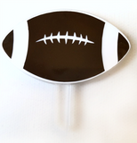 Football Cupcake Pick Acrylic Blank Shape