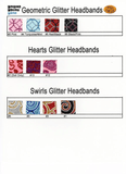 Glitter Sport Headbands ~ Doll, Child, Adult ~ Small/Large Flake/Prints ~ Set of 5 - CraftChameleon